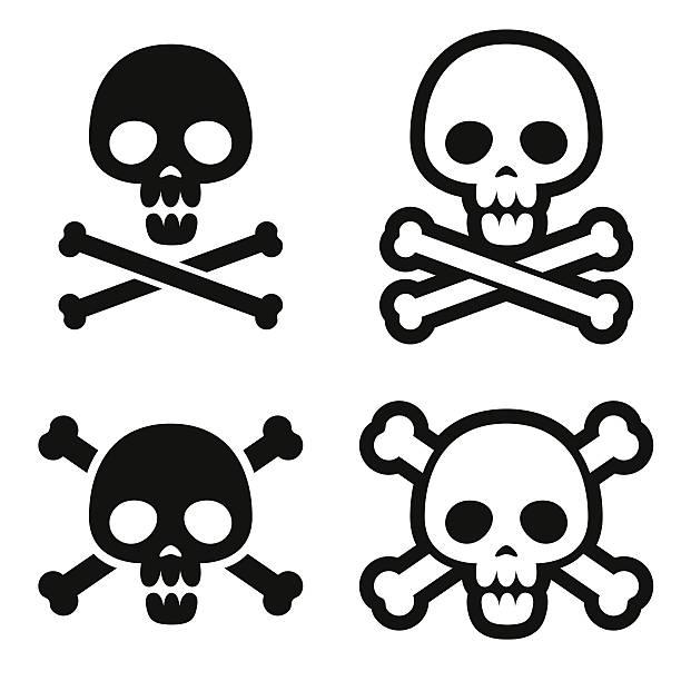 totenkopf-icons - totenkopf tattoos stock-grafiken, -clipart, -cartoons und -symbole