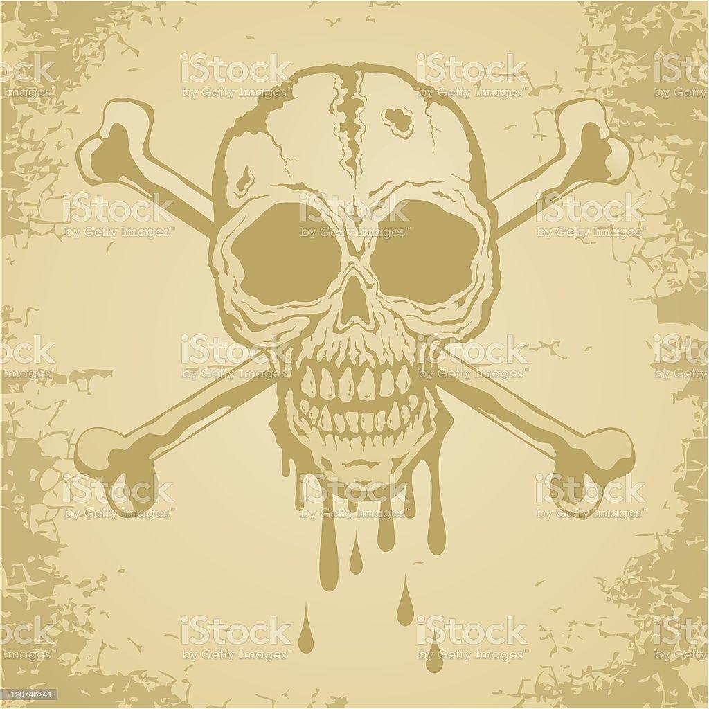 Skull and crossbones royalty-free stock vector art