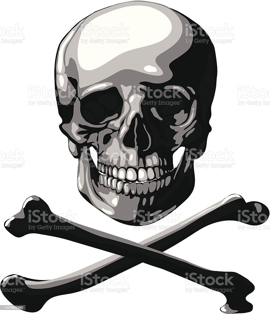 Skull and Crossbones royalty-free stock vector art