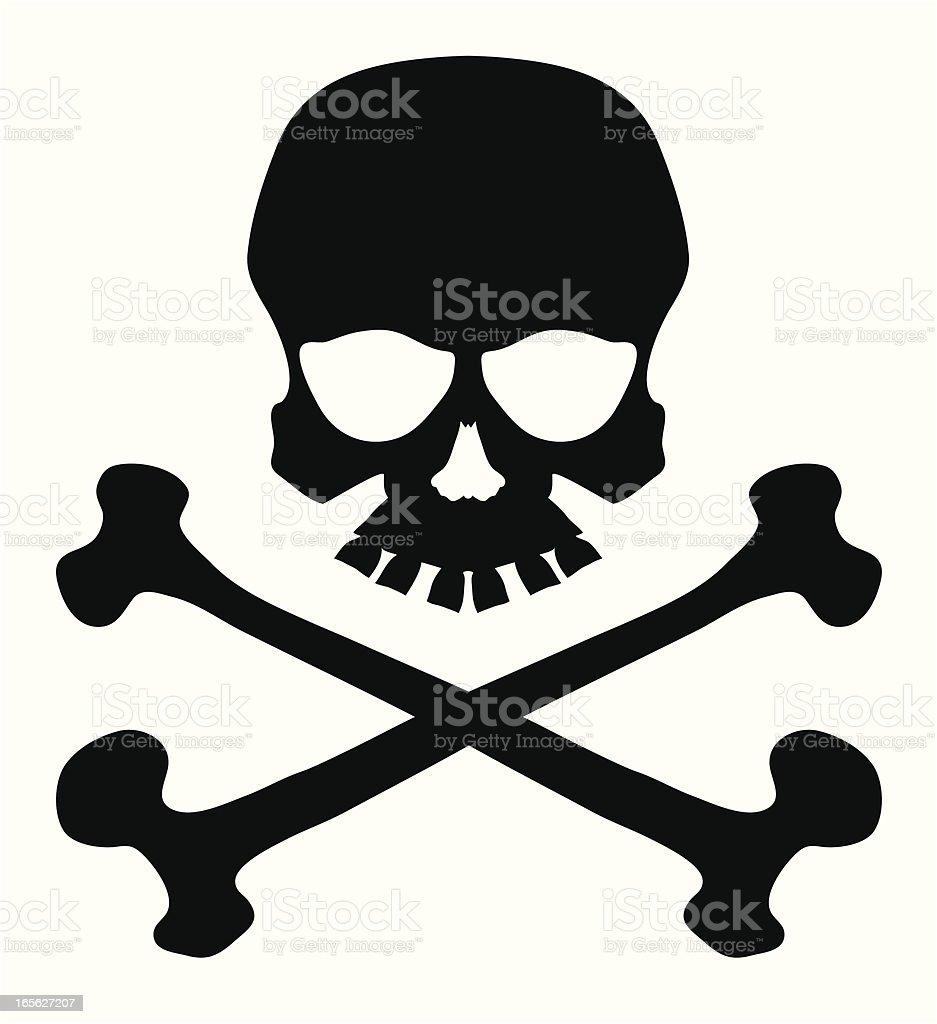 skull and crossbones stock vector art more images of black and rh istockphoto com Big Skull and Cross Bones Clip Art skull and crossbones vector free