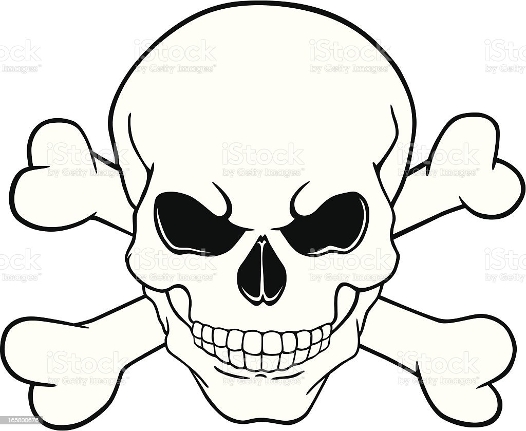 skull and crossbones stock vector art more images of art and craft rh istockphoto com free vector skull and crossbones