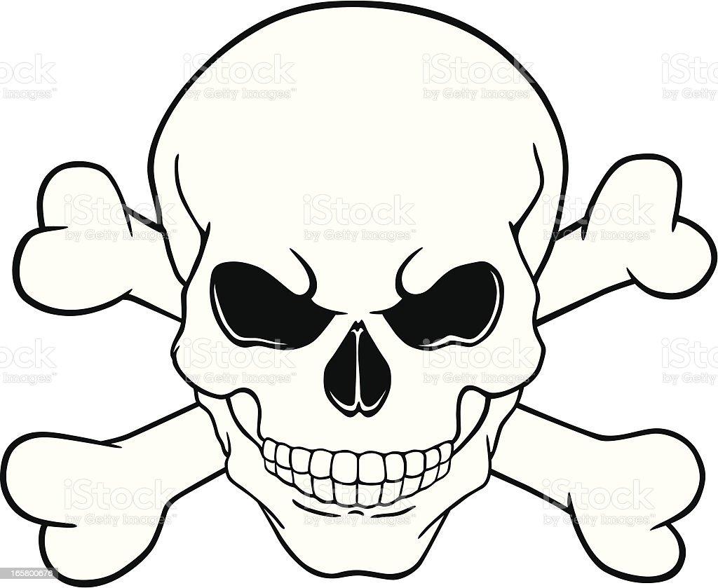 skull and crossbones stock vector art more images of art and craft rh istockphoto com Skull and Bones Clip Art skull and crossbones vector free