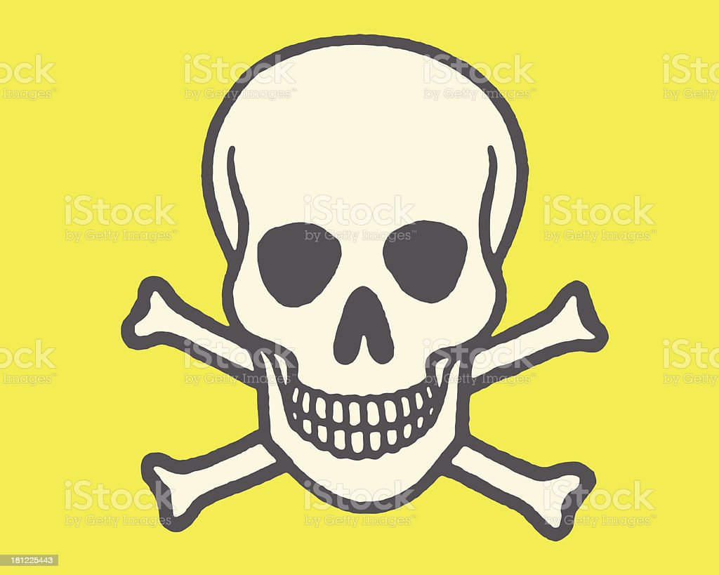 Skull and Crossbones royalty-free skull and crossbones stock vector art & more images of colored background