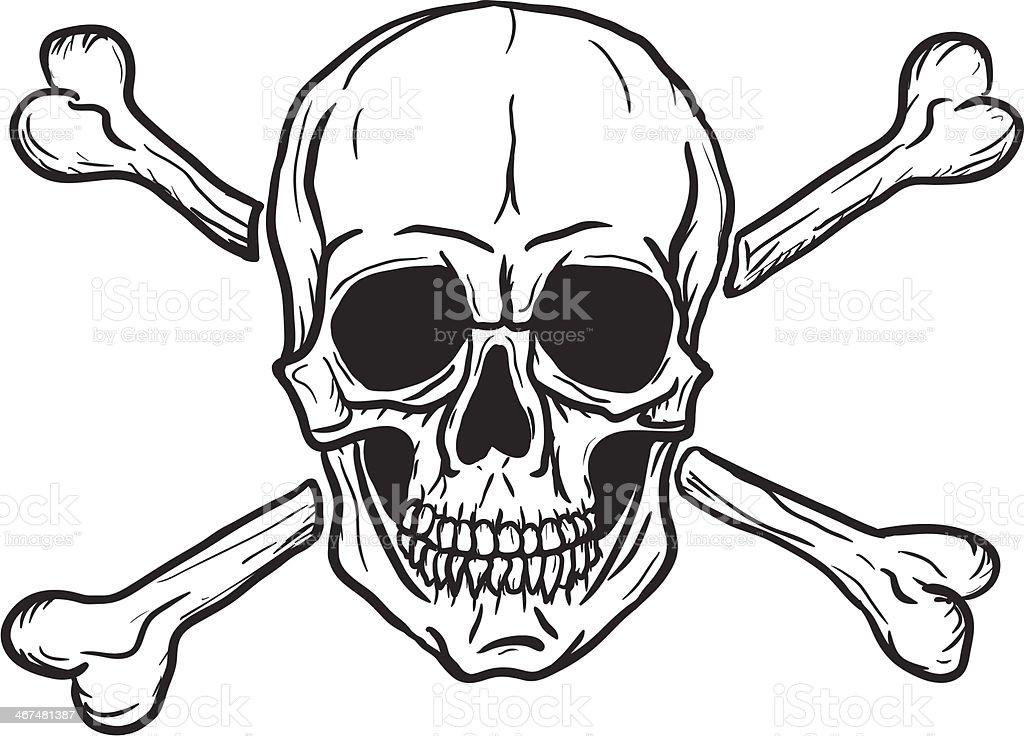 royalty free skull crossbones tattoo clip art clip art vector rh istockphoto com clip art skull and crossbones free clip art skull and crossbones free