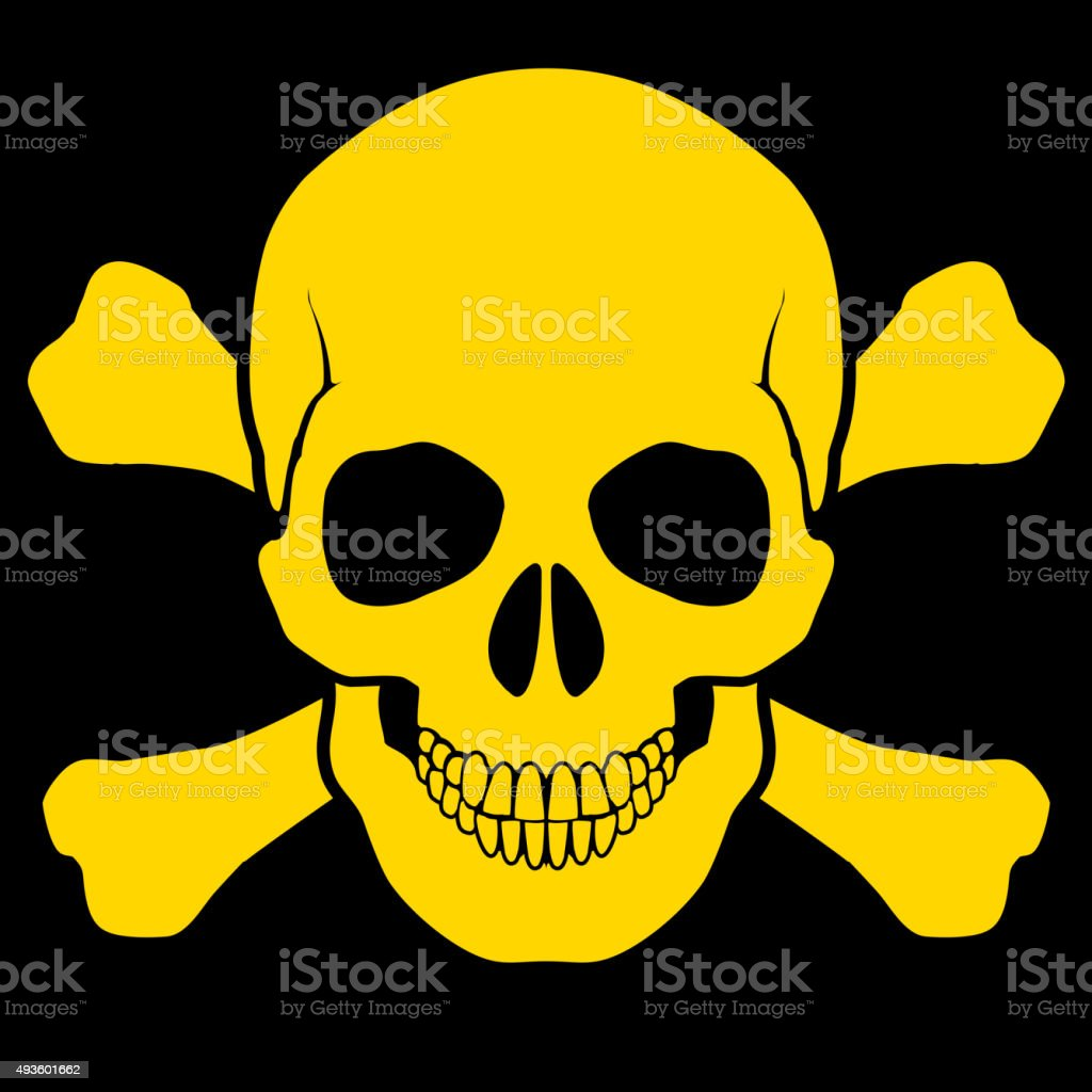 Skull and cross-bones vector art illustration