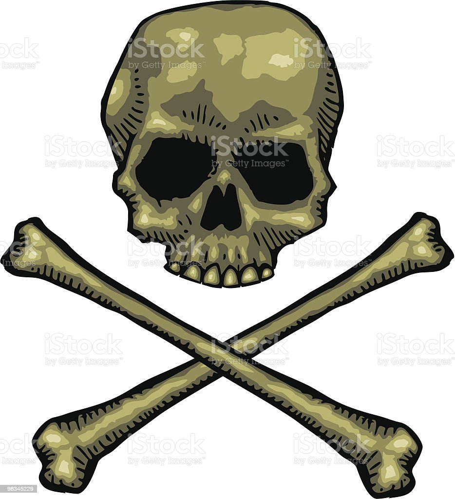 Skull and Crossbones royalty-free skull and crossbones stock vector art & more images of color image