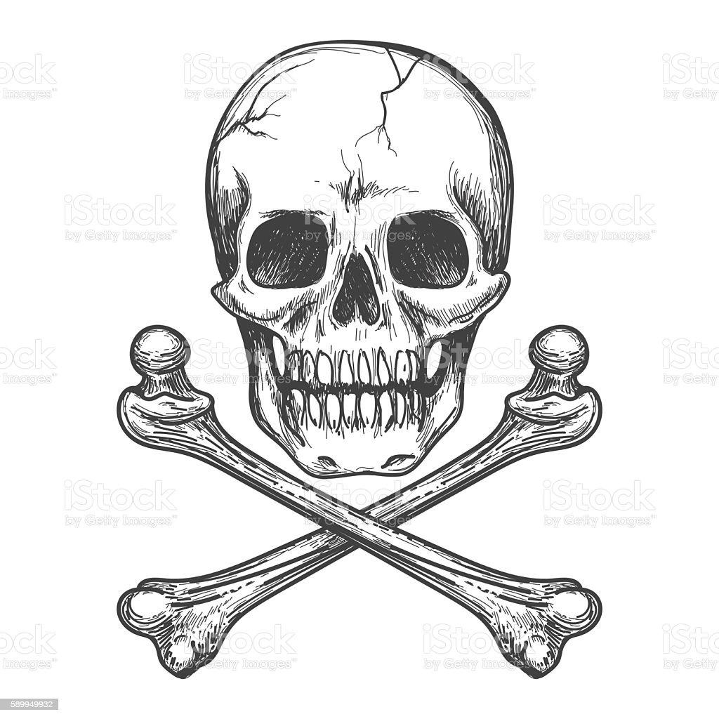 Bandera de piratas ilustración vectorial  - ilustración de arte vectorial