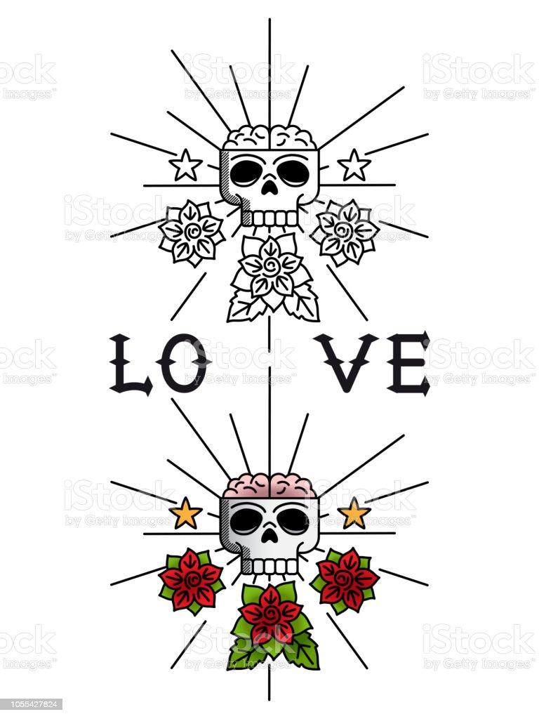 Blumen tattoo vorlage