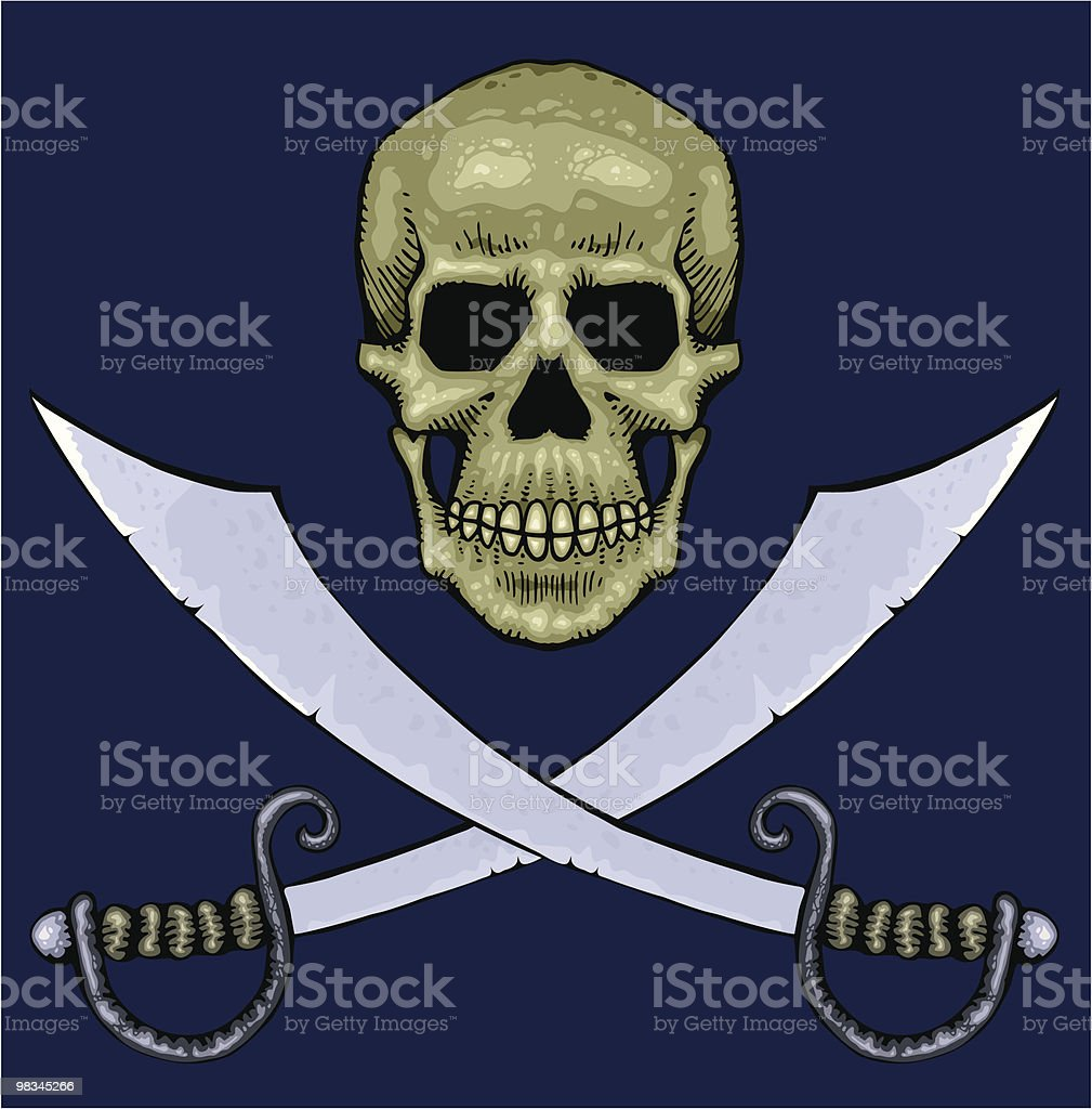 Skull and swords royalty-free skull and swords stock vector art & more images of blue background