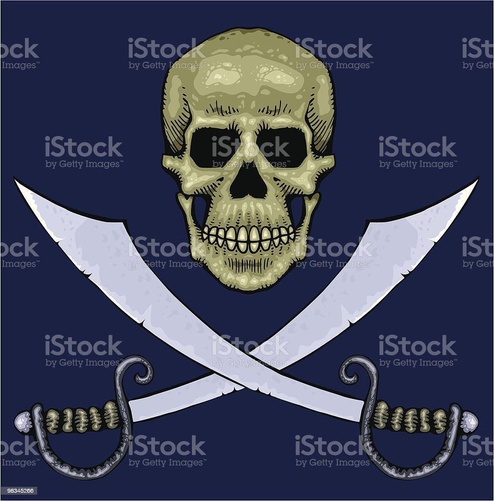 Teschio e spade teschio e spade - immagini vettoriali stock e altre immagini di a forma di croce royalty-free