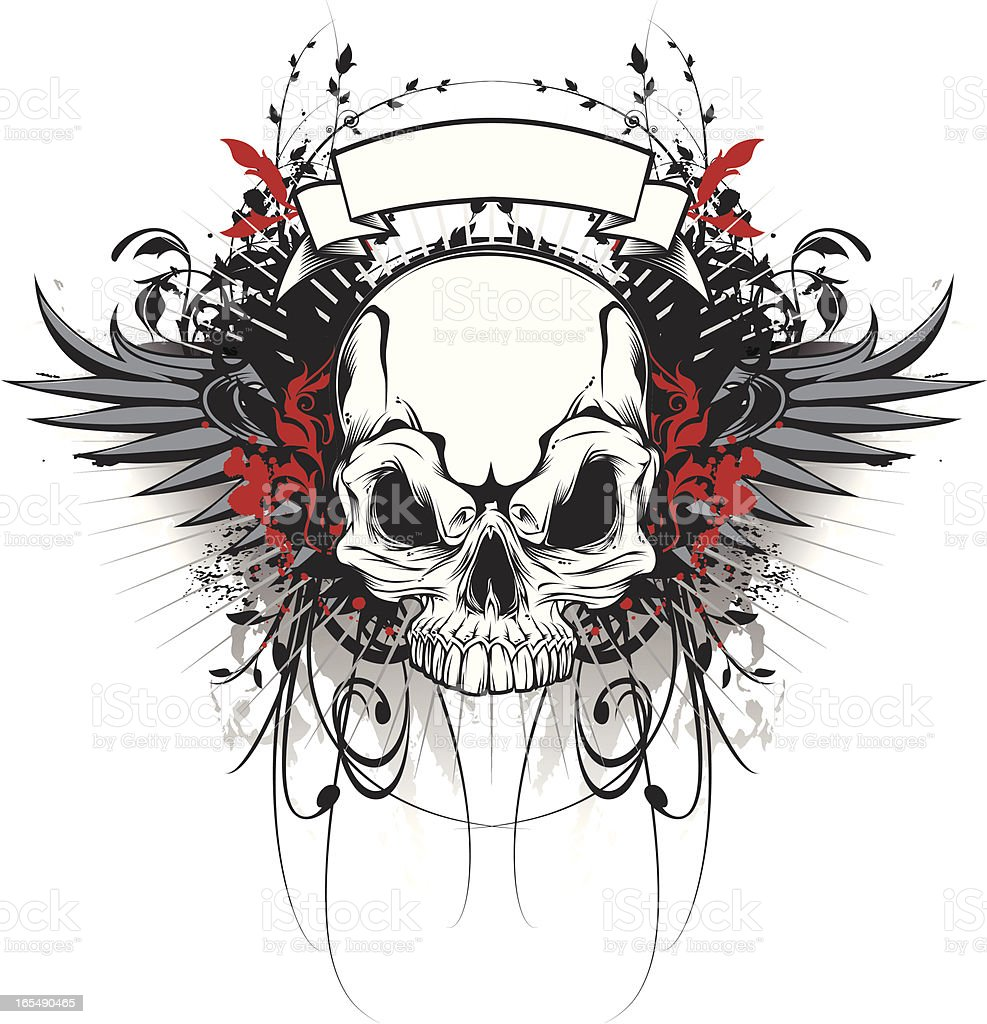 skull and wings royalty-free skull and wings stock vector art & more images of animal body part