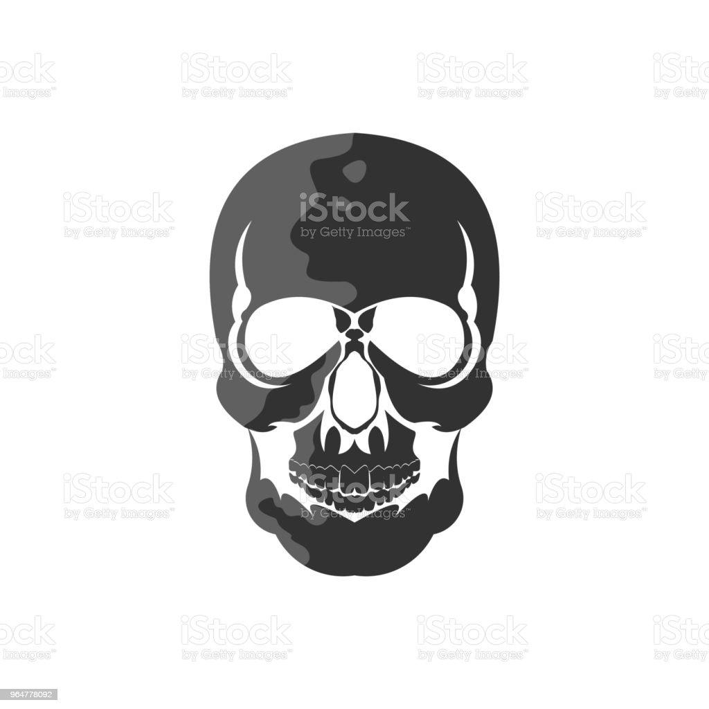 Skull Bone Emblem Vector Template Design royalty-free skull bone emblem vector template design stock vector art & more images of animal skeleton