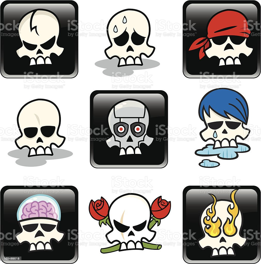 Skull Collection royalty-free skull collection stock vector art & more images of bandana