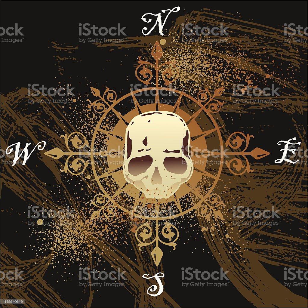 skull compass rose