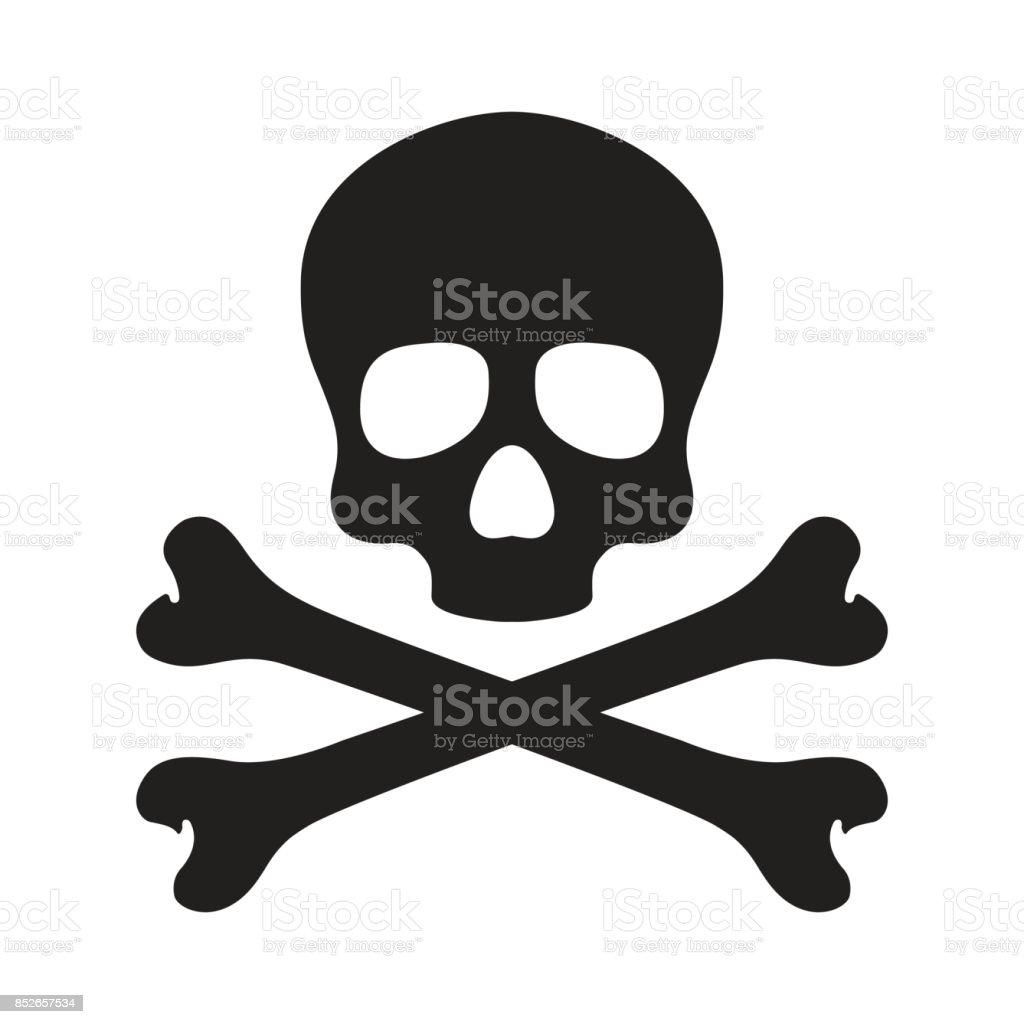 Skull cross bone Halloween illustratie behang achtergrond vector doodle - Royalty-free Anatomie vectorkunst