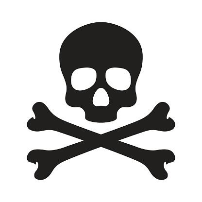 Skull cross bone Halloween illustration wallpaper background vector doodle