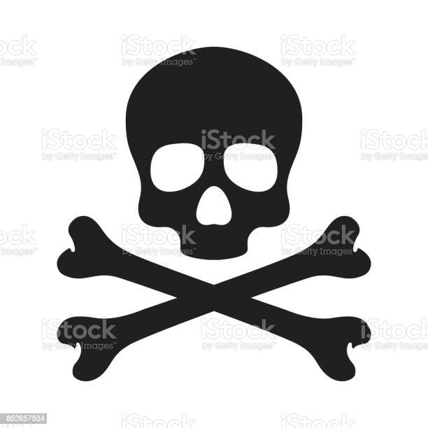 Skull cross bone Halloween illustration wallpaper background vector doodle