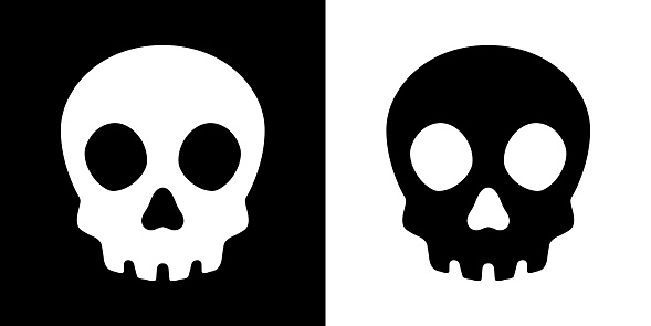 Skull Crossbones Vector Pirate Icon Logo Halloween Ghost Graphic Symbol Illustration Stock Illustration Download Image Now Istock