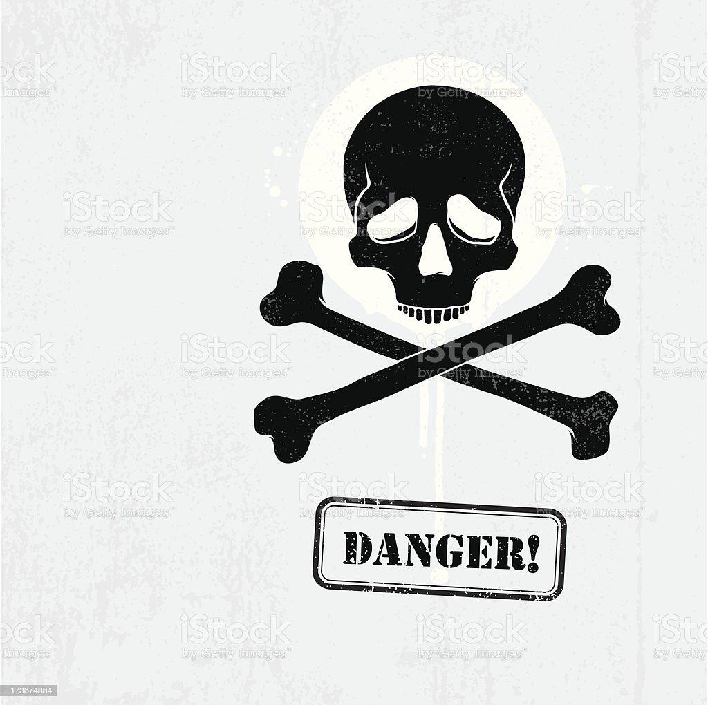 Skull Danger graffiti royalty-free stock vector art