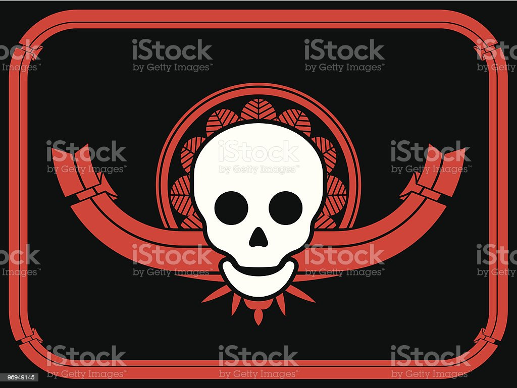 Skull design element with banner and frame royalty-free skull design element with banner and frame stock vector art & more images of art deco