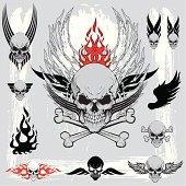 Skull design elements