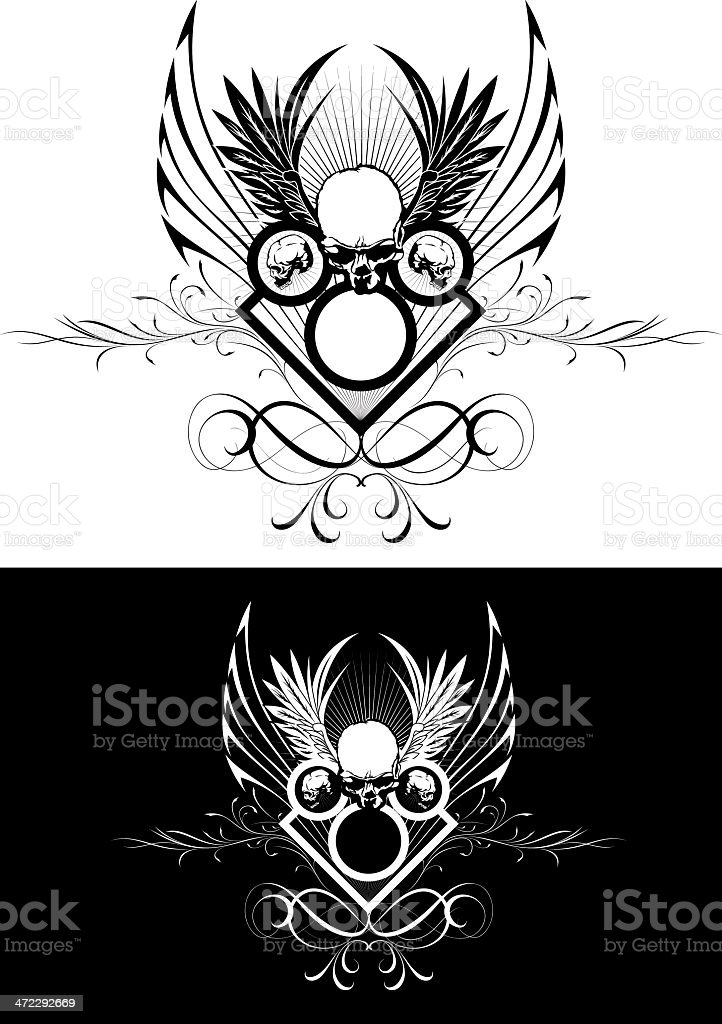 Skull design royalty-free stock vector art