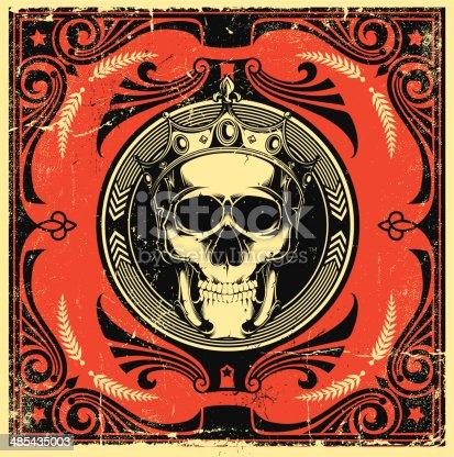 istock Skull design 485435003