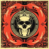 Skull in ornate frame Eps.8