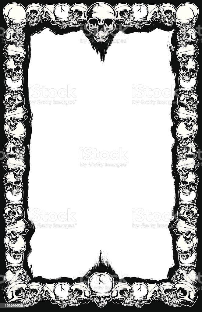 Skull Frame 11 X 17 Stockvectorbeelden 165929936 Istock