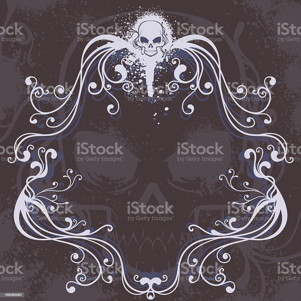 Skull Frame royalty-free stock vector art