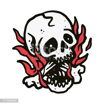 Skull graphic illustration vector art t-shirt design