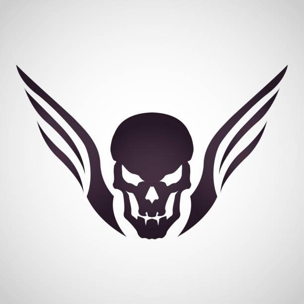 Skull head tattoo logo icon design, vector illustration vector art illustration