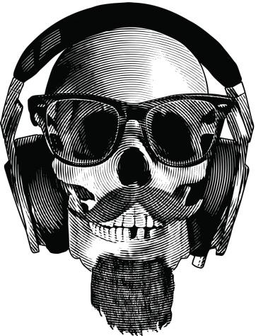Skull Hipster Headphones