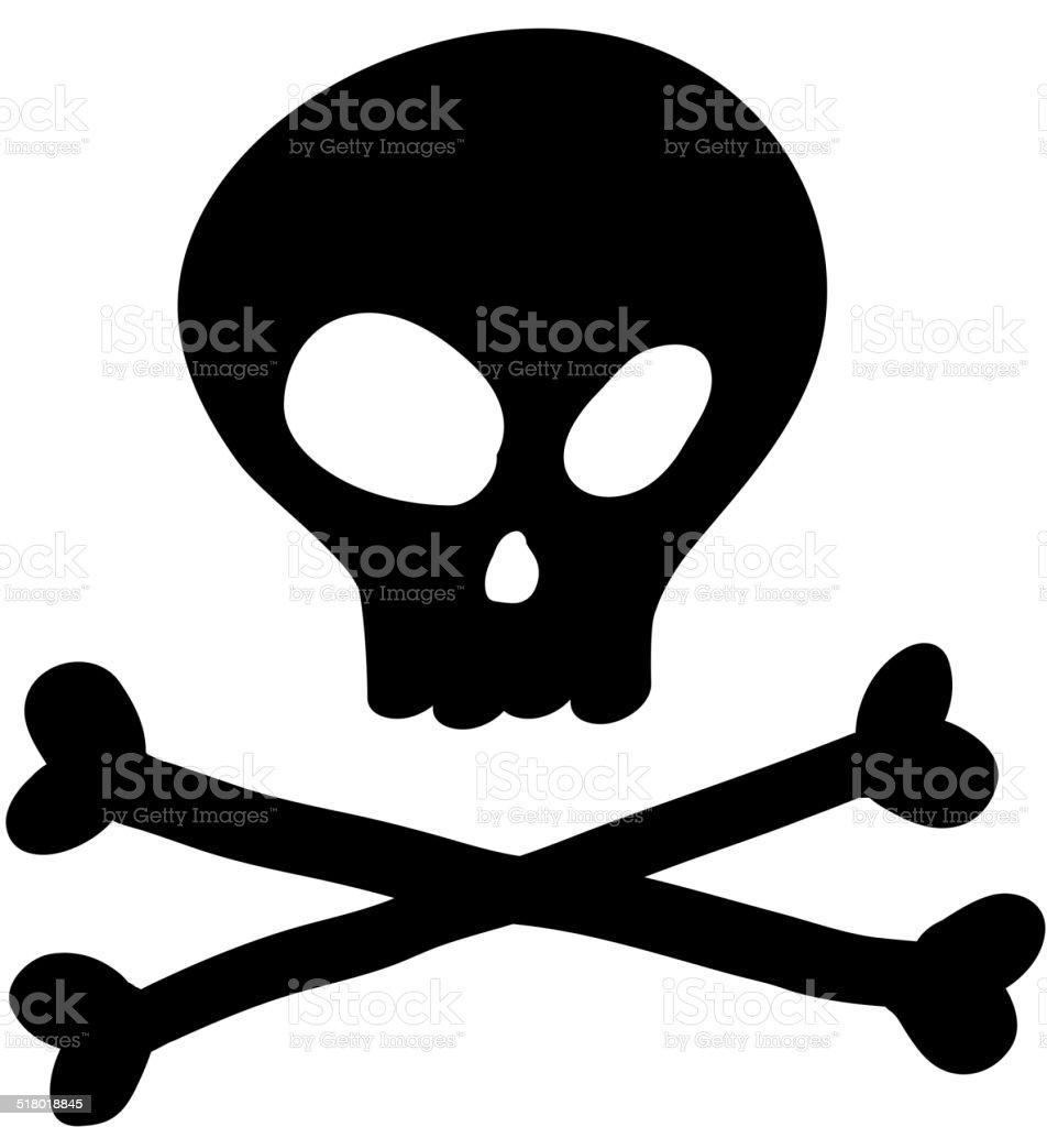 Ilustración de Cráneo Icono Aislado Ilustración De Dibujo A Mano ...