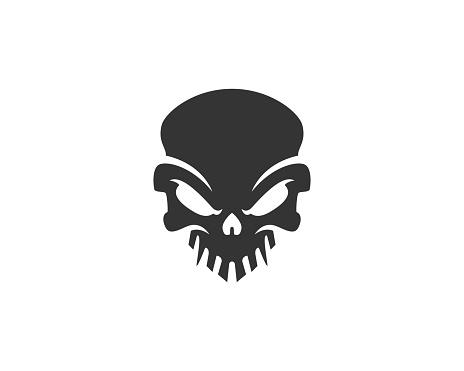 Skull icon or skull illustration, vector of skeleton.