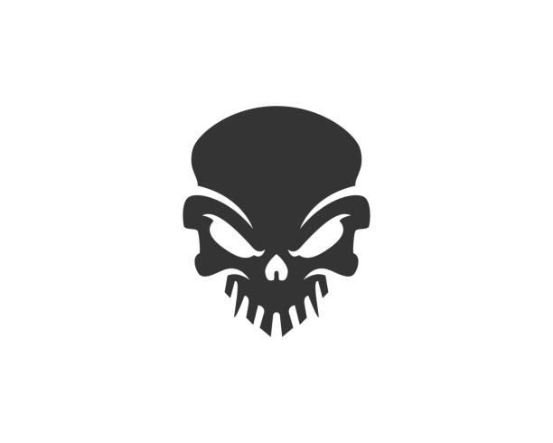 スカル アイコンまたは頭蓋骨の図、スケルトンのベクトルです。 - 炎のタトゥー点のイラスト素材/クリップアート素材/マンガ素材/アイコン素材