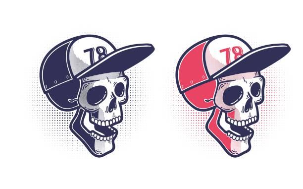 Bекторная иллюстрация Skull in a baseball cap