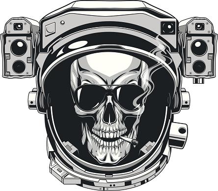 Skull in a spacesuit