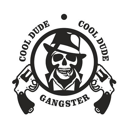 Skull in has gangster