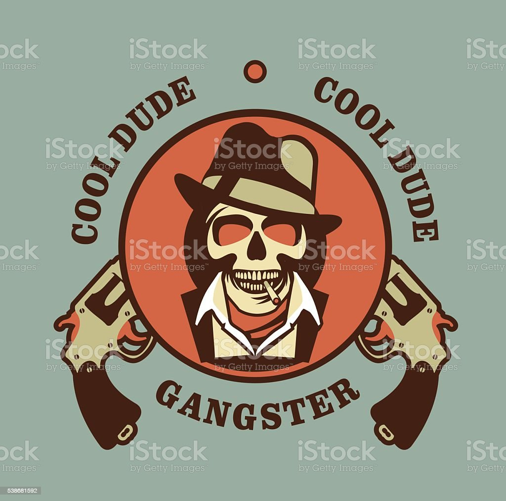 Schädel Mit Hut Gangster Stock Vektor Art und mehr Bilder von ...