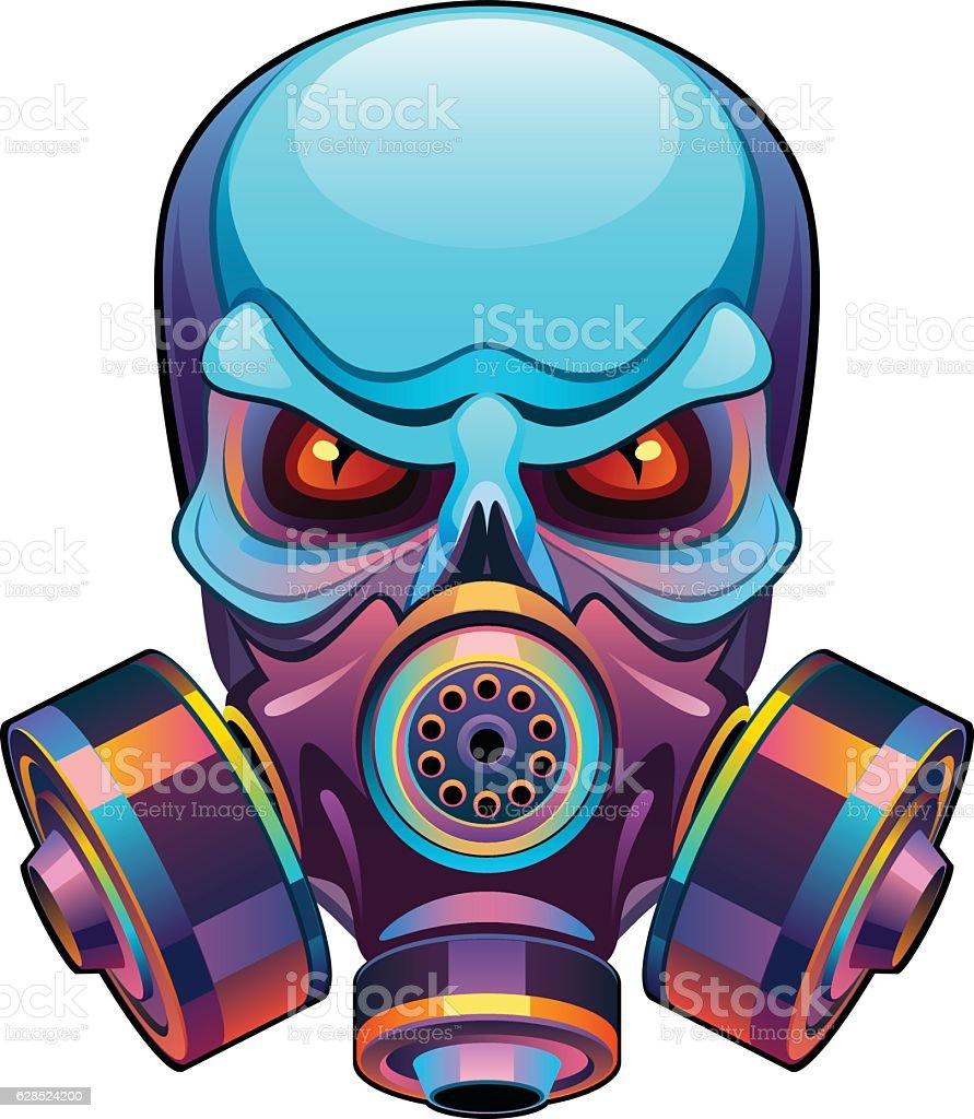 Skull in mask vector art illustration