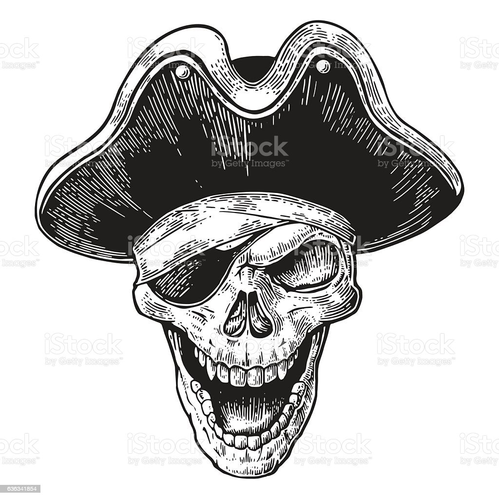 Pirate Hat Drawing Skull In Pirate...
