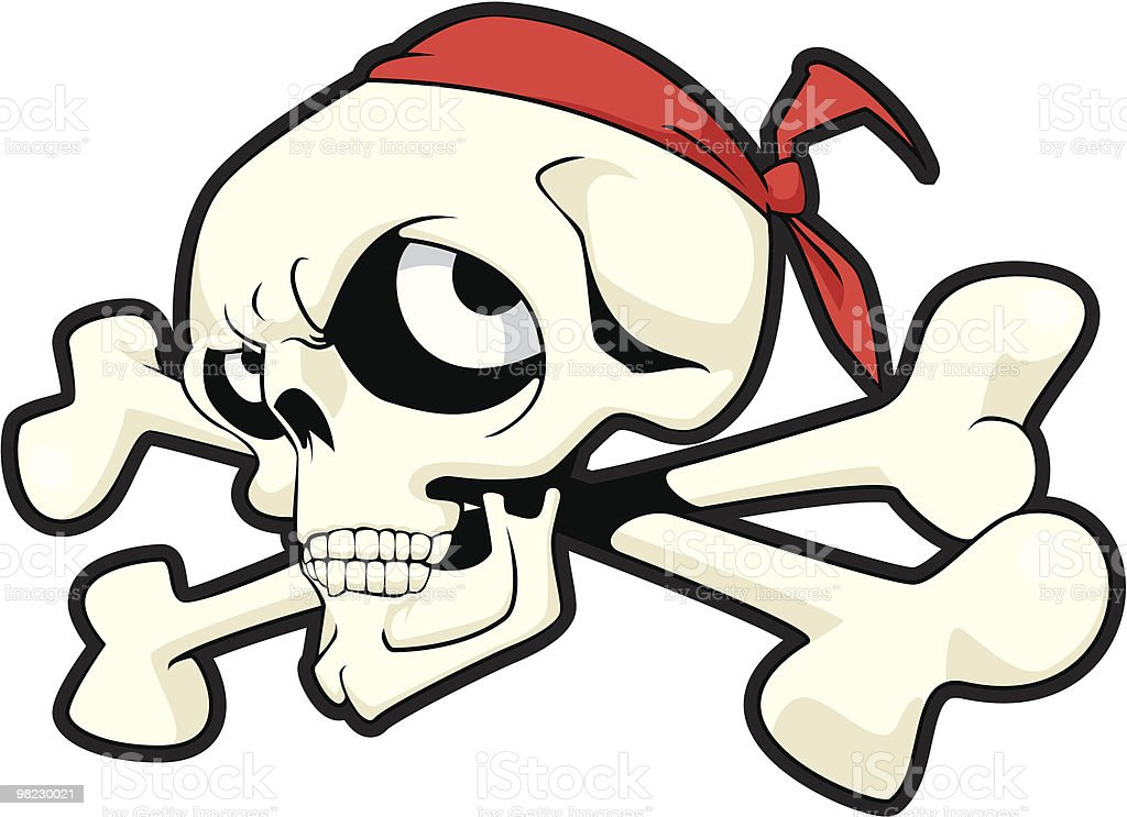 Skull in red bandanna royalty-free skull in red bandanna stock vector art & more images of cartoon