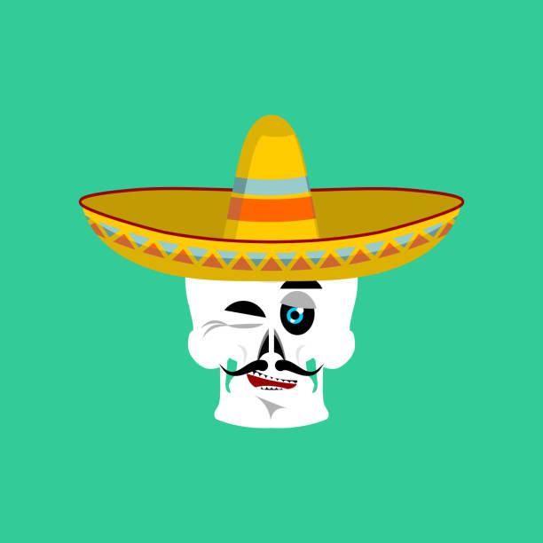 Skull In Sombrero Winking Emoji Mexican Skeleton For Traditional Feast Day  Of The Dead Stock Vector Art   More Images of Avatar 697122456  d87ad8a07a4