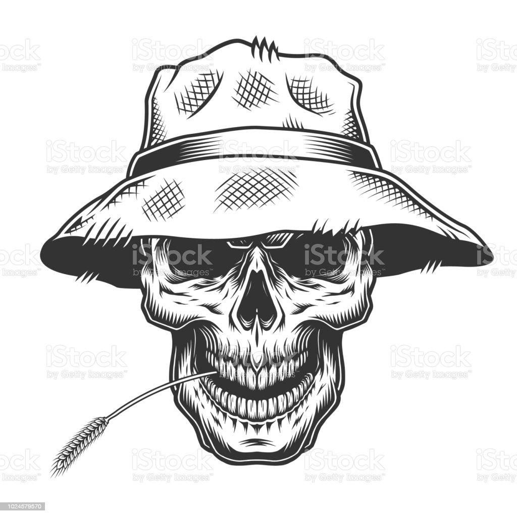 Ilustración de Cráneo Del Sombrero De Paja y más banco de imágenes ...