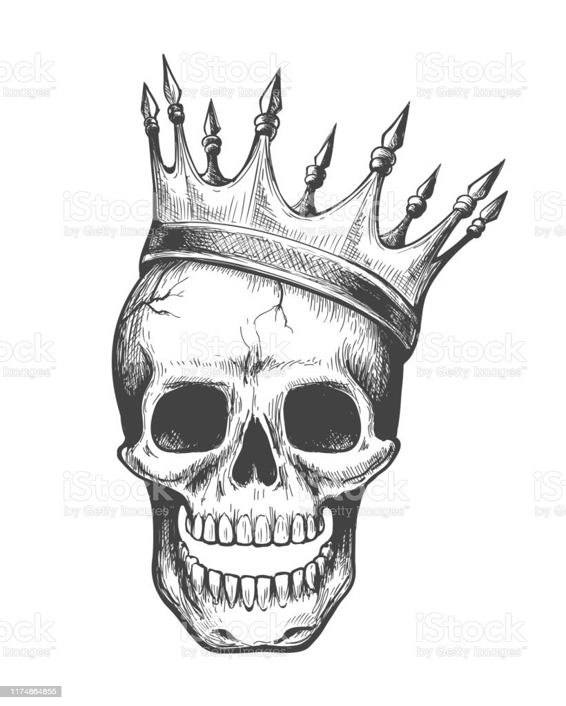 Skull King Tattoo Stock Illustration Download Image Now Istock Posted by zeus at 3:16 am. skull king tattoo stock illustration download image now istock