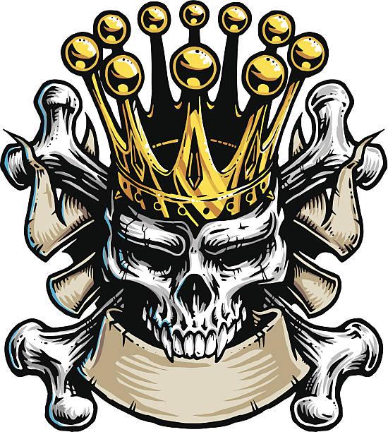 Skull King vector art illustration