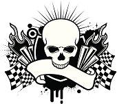 skull motor emblem
