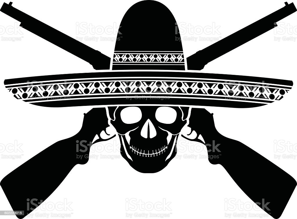 skull of mexican warrior royalty-free skull of mexican warrior stock vector art & more images of american culture