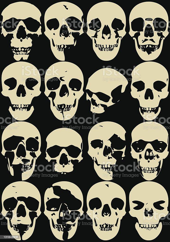 skull oll royalty-free stock vector art